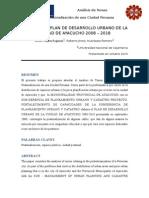 Analisis Peatonalizacion de Ayacucho