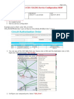 E-CES Service Configuration MOP v2