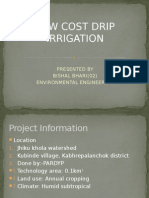 Low Cost Drip Irrigation