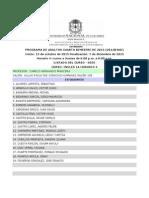Listado Horario 4 Cuarto Bimestre 2015