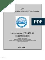 PG11-00 Procedimiento de Certificacion Organica Para Clientes