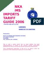 Import Tariff Guide CD 2006
