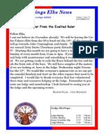 Sand Springs Elks Lodge November 2015 Newsletter