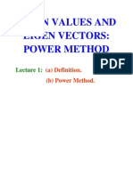 Eigen Values and Eigen Vectors Using Power Method