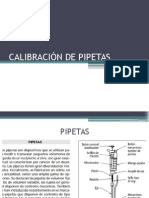 Calibración de Pipetas