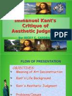 Immanuel Kant's Aesthetics