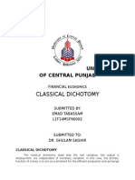 Classical Dichotomy Emad
