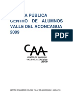 CUENTA PÚBLICA 2009