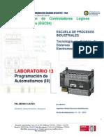 Laboratorio 13. Programación de Automatismos (III)