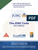 Jorc Code 2012