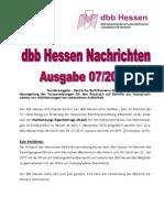 dbb Hessen Nachrichten Ausgabe 07/2015