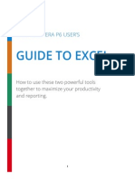 The Primaver P6 Users Guide to Excel