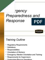 Emergency Preparedness and Response 110316