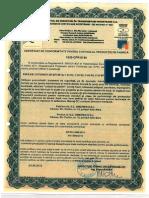 Certificat Emulsie