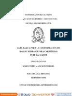 La Conformación de Bases y Subbases
