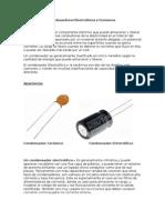 Condensadores Electrolíticos y Cerámicos
