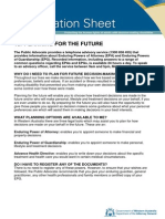 The Public Advocate -Planning for the Future