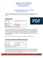 Mission Valley Power - Rate Schedule October 1 2015