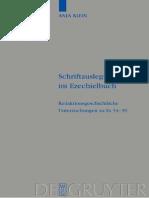 Klein, Anja Schriftauslegung im Ezechielbuch Redaktionsgeschichtliche Untersuchungen zu Ez 34-39 Beihefte zur Zeitschrift fur die Alttestamentliche Wissenschaft.pdf