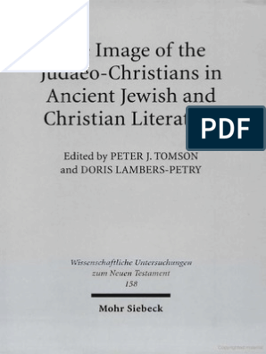 Peter J Tomson Doris Lambers Petry Image Of The Judaeo