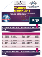 AWS CWI- Certification/Seminar Schedules India 2016