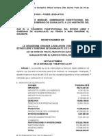 Decreto Iniciativa Ley de Ingresos Guanajuato 2015 DECRETO PLENO Web