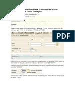 """SAP- ERROR No se puede utilizar la cuenta de mayor """"XXXXXX"""" (Por favor, corregir).doc"""