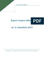 Raport Asupra Inflatiei Nr. 4, noiembrie 2015