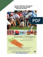 Fuel Like a Champion Sports Nutrition Handouts