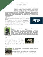 Wild Animals - Testing Reading Comprehension