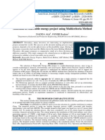 Selection of renewable energy project using Multicriteria Method