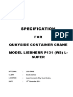 Liebherr Crane Summary Specification P131L LCC4740-0 19-12-2014