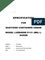 Liebherr Crane Summary Specification P131L LCC4740-0 19-12-2014