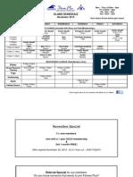 Nov 2015 Class Schedule-Weight Loss