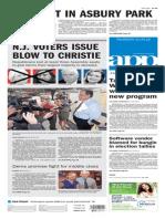 Asbury Park Press front page Thursday, Nov. 5 2015