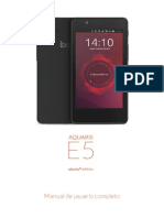 Aquaris E5 HD  UG ES MANUAL