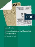 """Maria Danilov """"Presa Si Cenzura in Basarabia"""""""