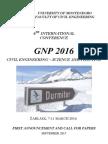 GNP 2016 - First Announcement