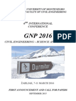 GNP 2016 - First Announcement