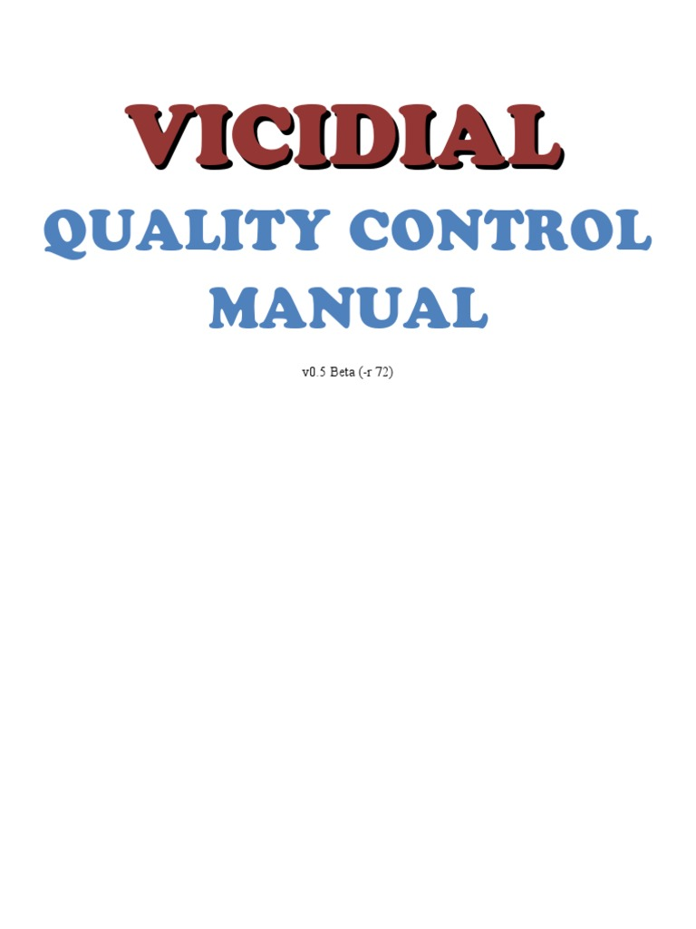Vicidial Quality Control Manual v1 | Software Release Life
