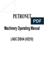 LNGC Disha Machinery Operating Manual