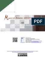 Memoria Actividades 2014 2015 Corinto Badajoz