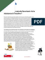 Etude Les Acides Gras Satures Favorisent Ils La Resistance e Linsuline Nutrition Fr