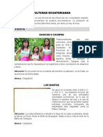 RESUMEN CULTURAS ECUATORIANAS