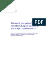 3 Reasons Enterprises Struggle with Storm & Spark Streaming - DataTorrent
