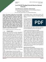 Performance Evaluation of MANET Routing Protocols Based on Internet Protocols