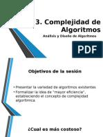03 Algortimos - Complejidad