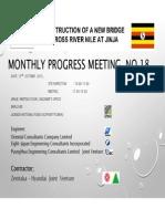 150909 Monthly Progress Meeting No 18 Draft