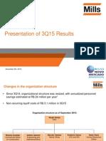 3Q15 Presentation of Results