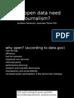 Does open data need journalism - ODI Summit 2015